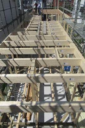 中央区 Y邸 建て方2.JPG
