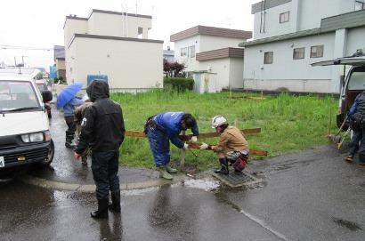 清田区 M邸 遣り方.JPG